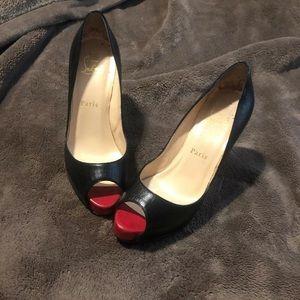 Christian Loubiton Black leather heels 👠 36.5